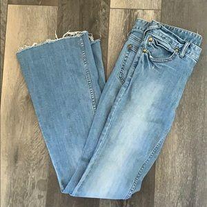 Free People flare leg light denim jeans size 29